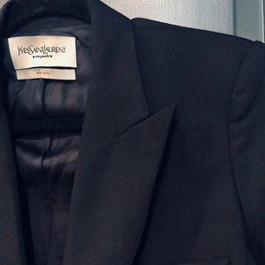 YSL Yves Saint Laurent Black Wool Blazer FR42/US10